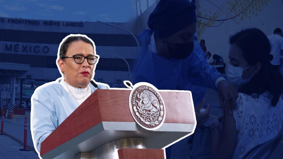Tras concluir vacunación, hay posibilidades de reapertura de fronteras con EU: Rosa Icela