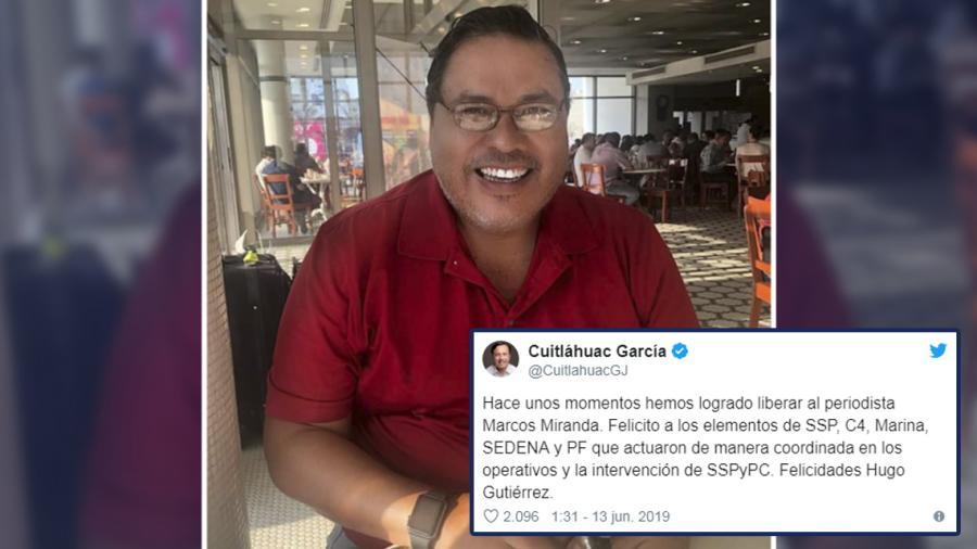 Periodista Marcos Miranda, es liberado