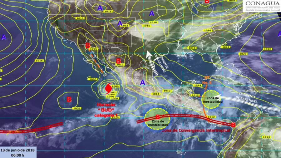Prevén entrada de humedad en occidente, norte y centro del país