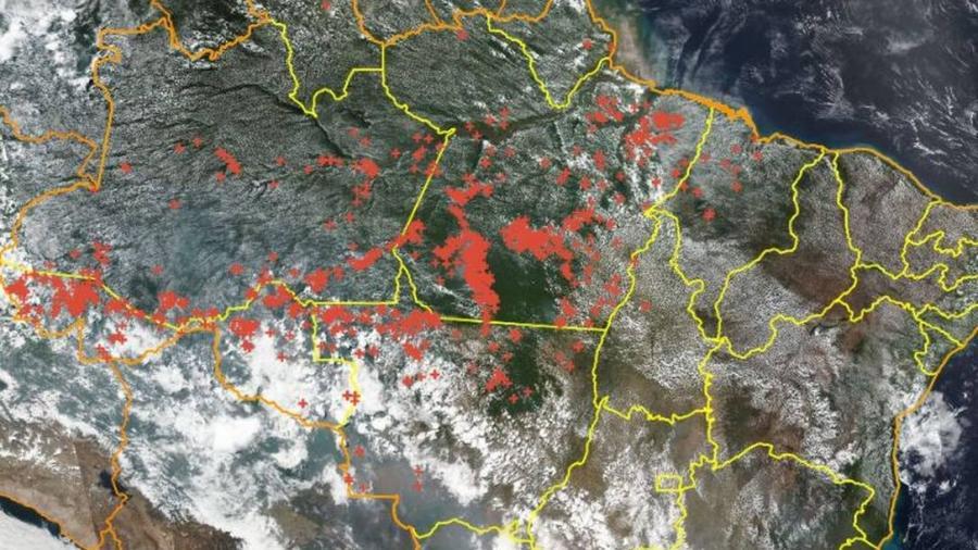Incendio consume la Amazonía en Brasil