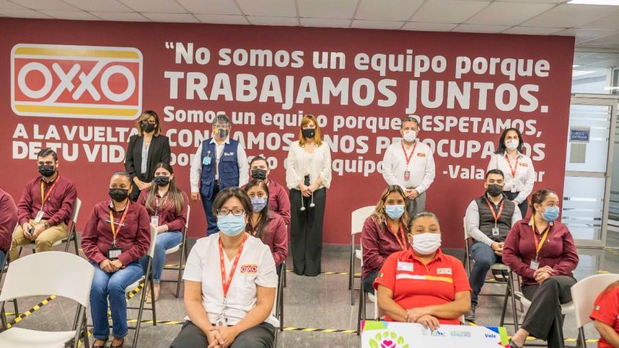 Firma Mariana Gómez convenio de colaboración con Oxxo Tamaulipas, para promover oportunidades laborales para adultos mayores y personas con discapacidad