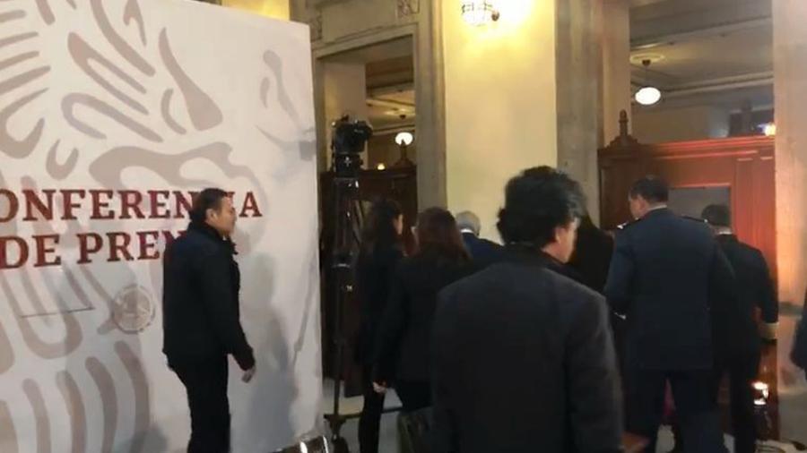 Suspenden Conferencia de Prensa por alerta sísmica