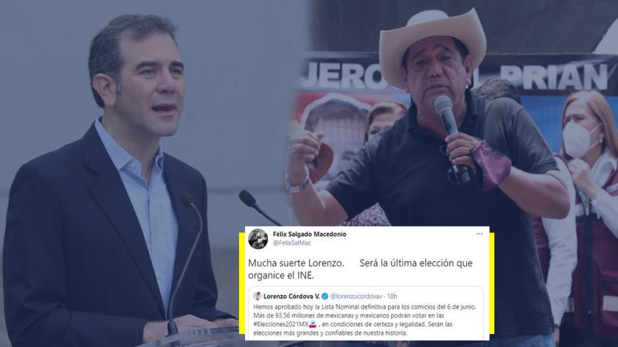 """""""Suerte Lorenzo. Será la última elección que organice el INE"""", amenaza Salgado Macedonio"""