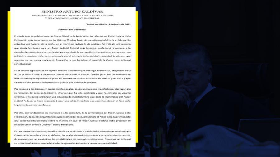 Pedirá Arturo Zaldívar consulta extraordinaria sobre su extensión de mandato