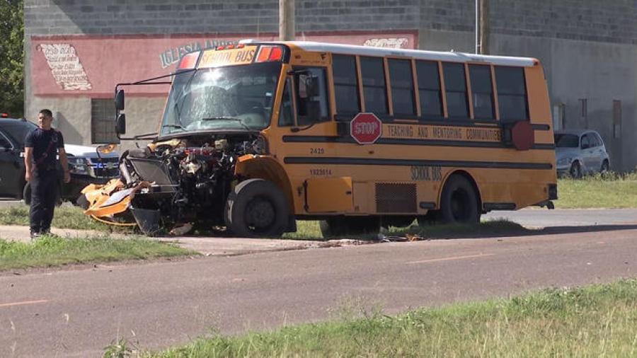 Investigan accidente de un autobús escolar en Mission