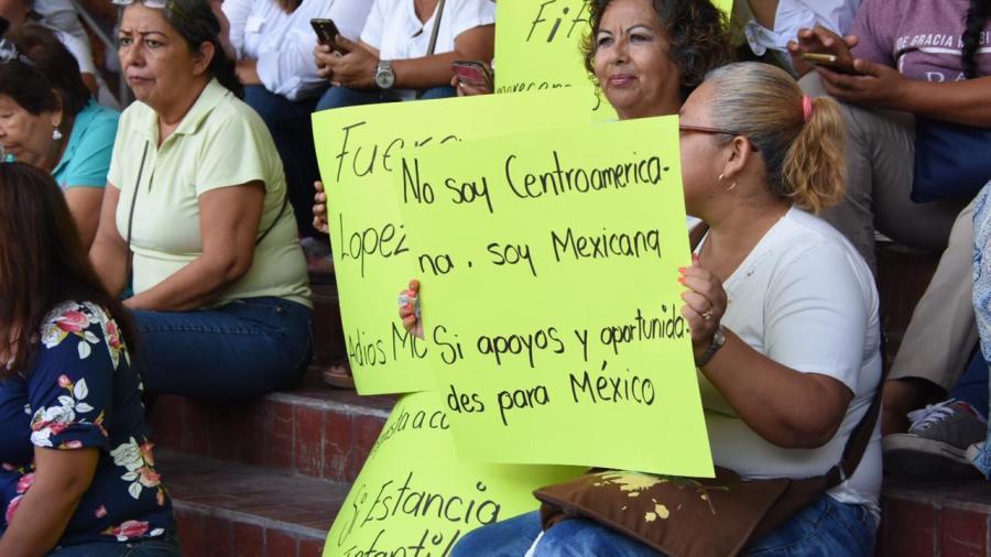 Protestan contra AMLO en Tampico