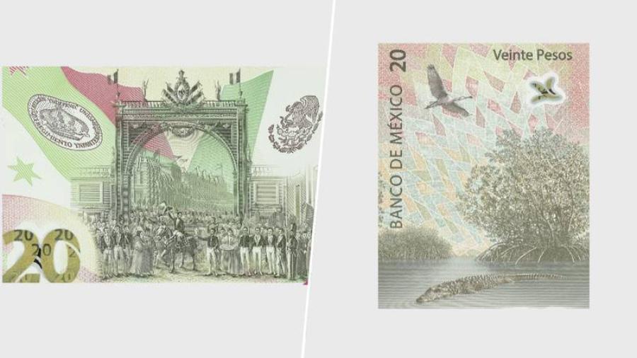 Banxico pone en circulación nuevo billete de 20 pesos