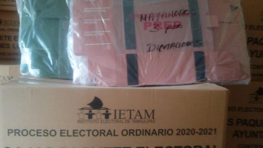 Llegó el material electoral para ayuntamiento y diputados locales en Matamoros