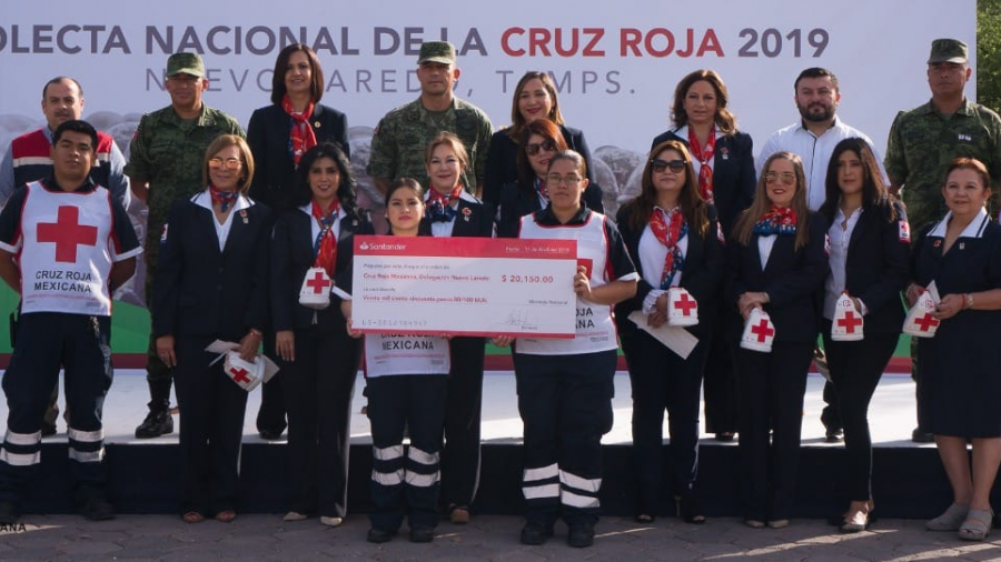 Sedena dona 20 mil pesos a la Cruz Roja