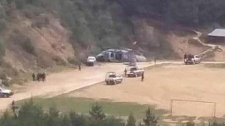 Un muerto tras desplome de helicóptero de la Semar
