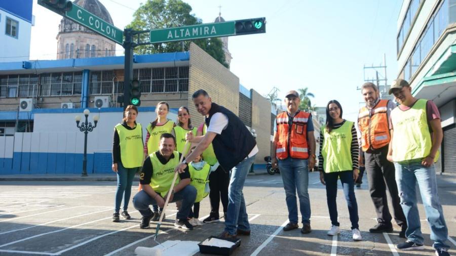 Participa Iniciativa Privada en acciones de seguridad vial e imagen de Tampico