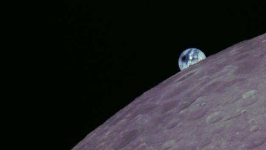 Eclipse en Sudamérica visto desde el espacio
