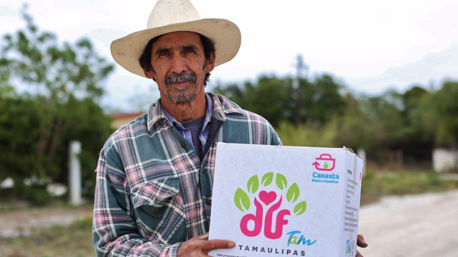 Inicia DIF Tamaulipas primera entrega del año de la dotación canasta básica