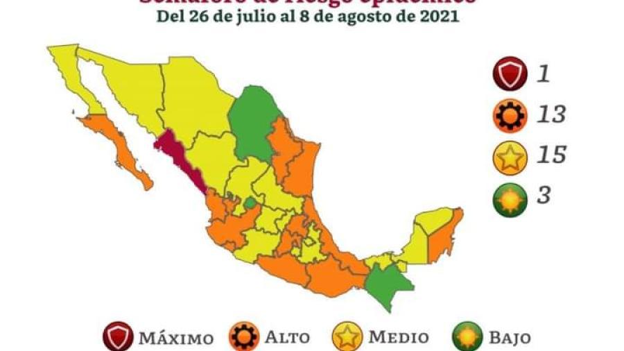 15 Estados en Semáforo Verde Epidemiológico