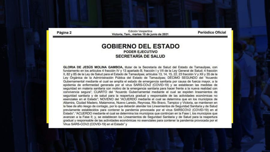 Reynosa, Matamoros, Nuevo Laredo y 5 municipios más en alto riesgo de contagio por COVID