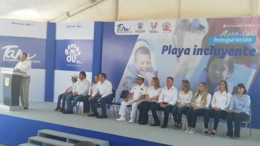 Inaugura Gobernador pasos y espacios de playa incluyente en Miramar