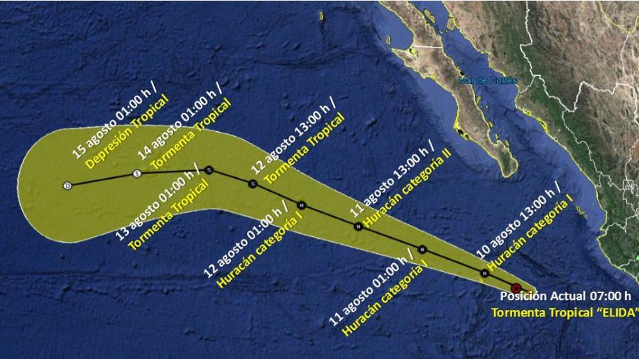 'Elida' se fortalece hacía las costas de Jalisco; pronostican que se convertirá en Huracán categoría 1