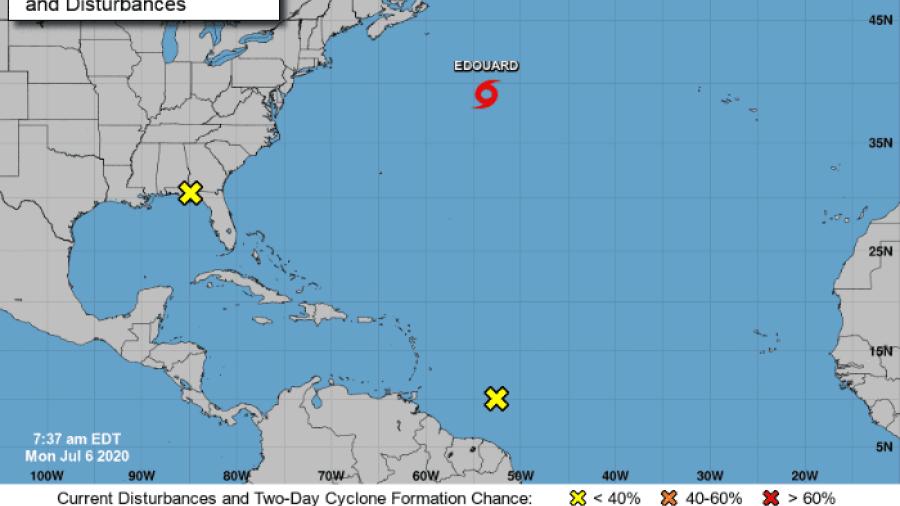 """Tormenta tropical """"Edouard"""" se forma en el Atlántico Norte"""