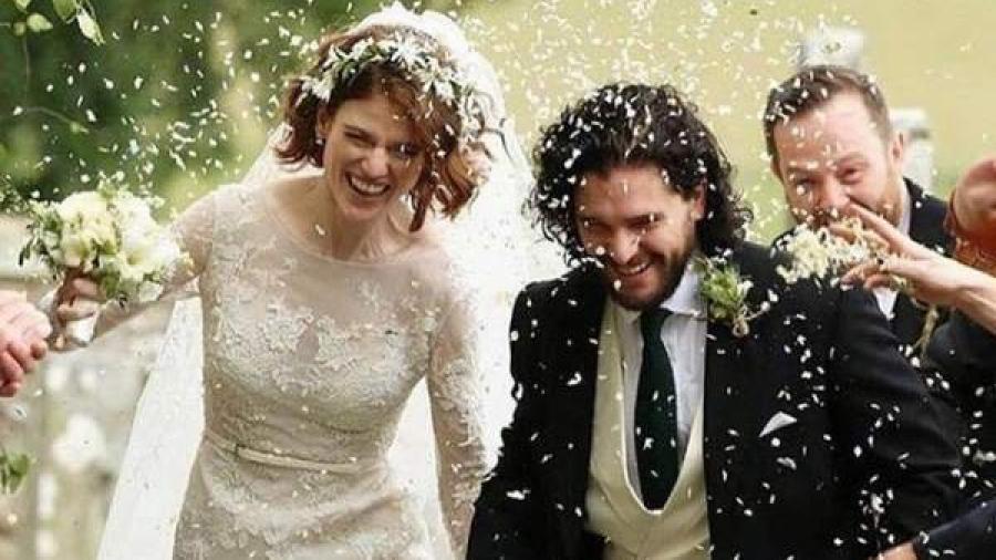 Kit Harington y Rose Leslie se casan al más puro estilo de 'Juego de tronos'