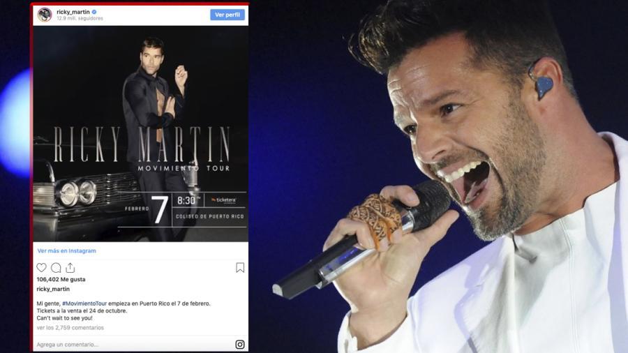 Ricky Martin iniciará su gira 'Movimiento' en Puerto Rico