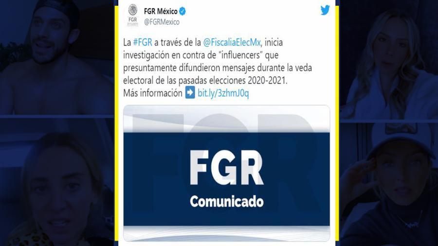 """Abre FGR Investigación en contra de """"Influencers"""" que apoyaron al Partido Verde"""