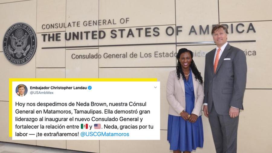Neda Brown concluye como Embajadora de de EU en Matamoros