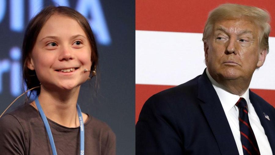 Greta Thunberg dice que el futuro de Trump se ve 'brillante y maravilloso'