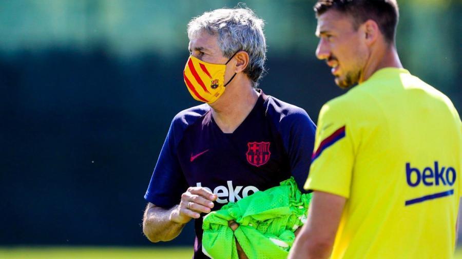 Barcelona luce sus nuevos cubrebocas en regreso a entrenamientos