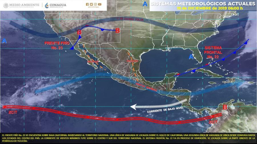 Vientos fuertes en Sonora y Chihuahua
