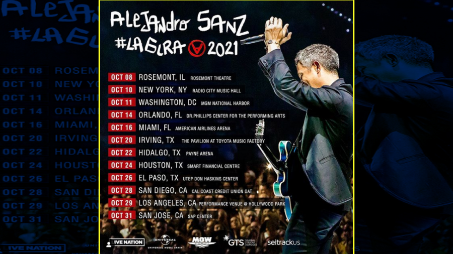Alejandro Sanz comenzará gira por EU; visitará TX en octubre
