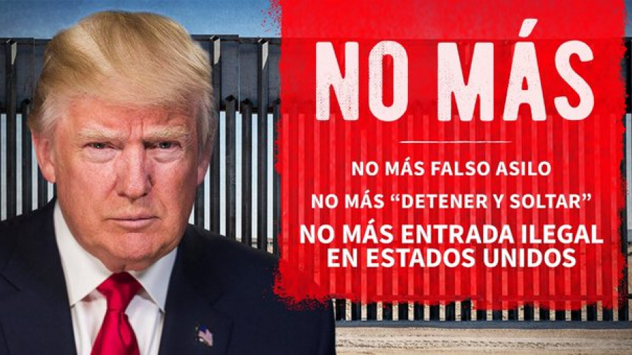 No más entrada ilegal en Estados Unidos: Trump