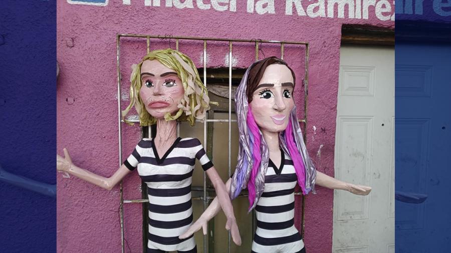 """Crean piñatas inspiradas en Laura Bozzo y """"Yosstop"""" con uniforme de reclusas"""