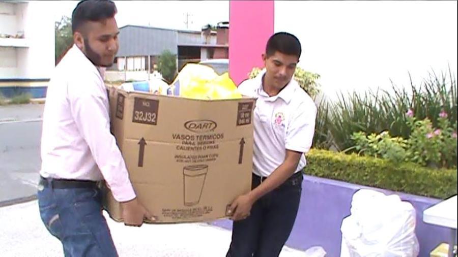 DIF Miguel Alemán recibe vivieres por parte del la UPRR
