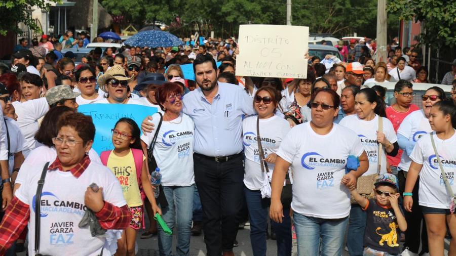 Entusiasma Javier Garza Faz a habitantes de Jarachina Sur