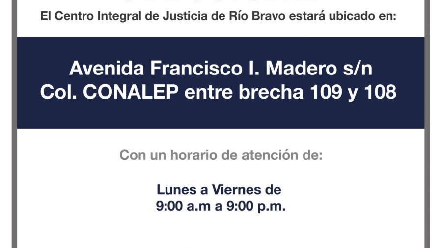 FGJET iniciará operaciones en Centro Integral de Justicia en el municipio de Río Bravo