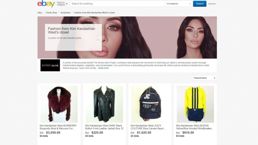 Kim Kardashian vende su ropa a través de eBay