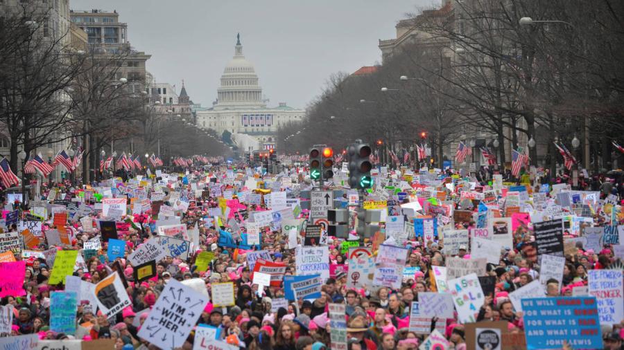 Celebridades que asistieron a la marcha de las mujeres contra Trump