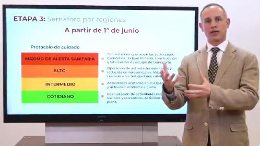 Importante atender semáforo para evitar rebrotes: López-Gatell