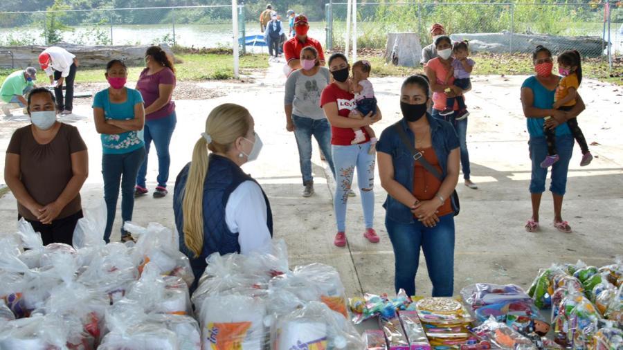 Refrenda Alcaldesa apoyo a comunidades del río Tamesí