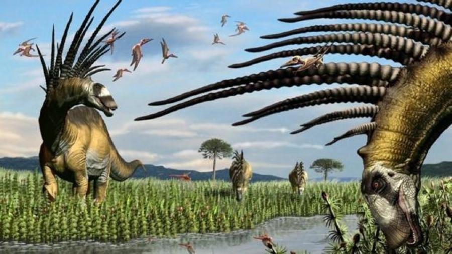 Descubren dinosaurio que usaba espinas de su cuerpo como defensa