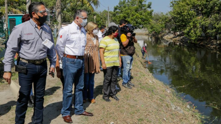 Rehabilitan canal natural en Ciudad Madero