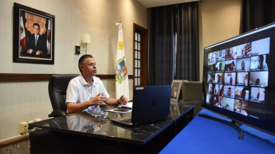 Expone Chucho Nader acciones contra COVID-19 ante miembros de la ANAC