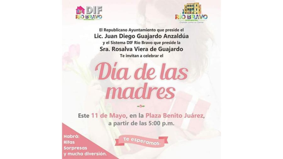 """Invita ayuntamiento a celebración del """"Día de las madres"""""""