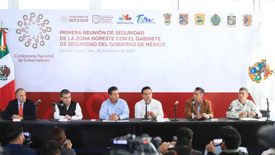 Se reúnen en Tamaulipas Gobernadores de la Comisión de Seguridad de la CONAGO