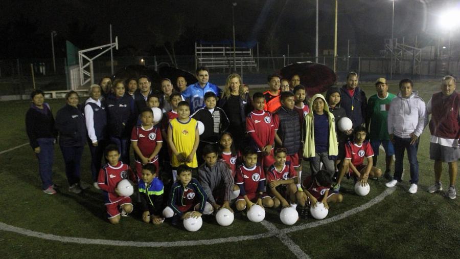 Entrega INDE Tamaulipas material deportivo a Parque de Bienestar Social