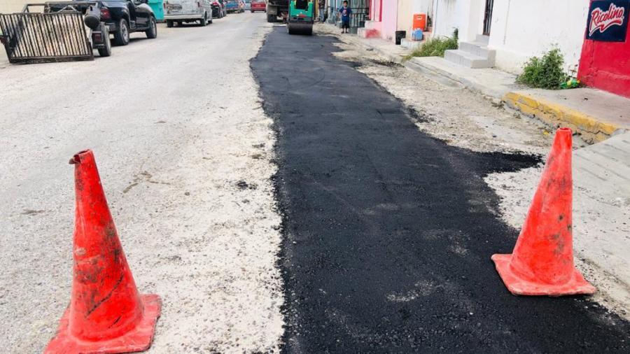 Se concluyen los trabajos de reposición de línea de agua en la calle Herrara del centro de la ciudad
