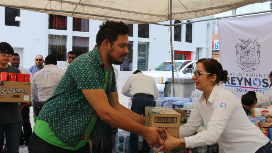 Instaló el Municipio Centro de Acopio para afectados por inundaciones