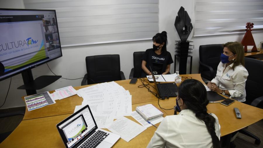 Cultura Tamaulipas se reúne virtualmente con los  43 Titulares Municipales de Cultura