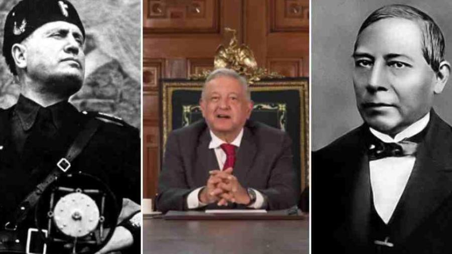 AMLO asegura que Mussolini tiene el nombre por Benito Juárez