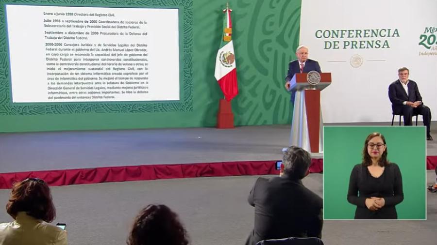 Confirma AMLO salida de Julio Scherer de la Consejería Jurídica de Presidencia; llega María Estela Ríos